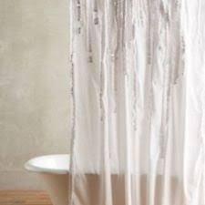Ruffle Shower Curtain Anthropologie Anthropologie Shower Curtains Ebay