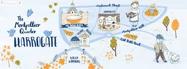 map uk harrogate the montpellier quarter in harrogate uk by katy bloss they draw