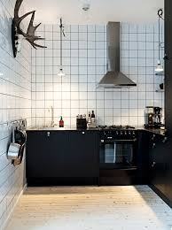 Industrial Kitchen Cabinets Scandinavian Kitchen With Industrial Touch Black Cabinets White