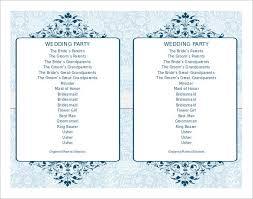simple wedding programs templates simple wedding program template best 25 wedding program templates