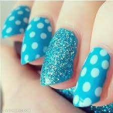 blue polka dot nails pictures photos and images for facebook
