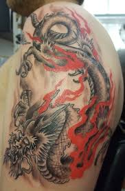 cool japanese dragon tattoo on upper arm tattooshunt com