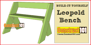 Deck Chair Plans Pdf by Leopold Bench Plans Easy Diy Project Construct101