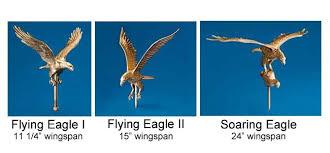 gold eagle flagpole ornament
