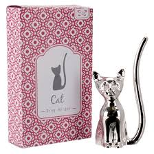 silver cat ring holder images Silver cat ring holder find me a gift jpg