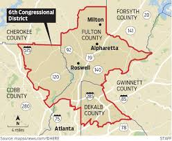 map of metro atlanta map s congressional districts