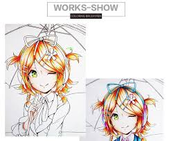 sakura 48 colors artist soft headed marker set water based ink