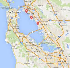 san francisco map east bay substance spill threatens seabirds in san francisco bay san