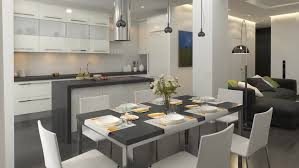 modern kitchen interior design decorated kitchen interior stock footage 16163449