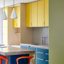 multi color kitchen cabinets ten home kitchens that use colour to make a statement