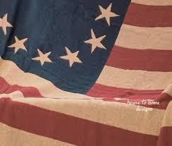 Old Flag Usa Glory American Flag Throw