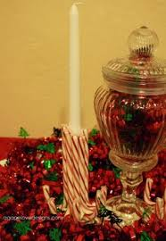 Cheap Christmas Centerpiece - frugal holiday decor or centerpieces reusable jars led candles