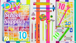 10 diy supplies u2013 easy back to diy projects youtube