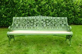 Antique Cast Iron Garden Benches For Sale by Cast Iron Coalbrookdale Nasturtium Pattern Garden Bench Seat
