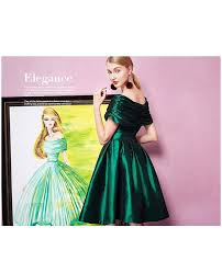 emerald green off the shoulder satin party dress gemgrace