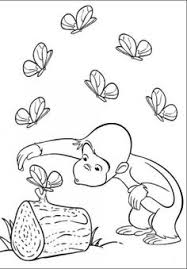 curious george coloring picture first grade ideas pinterest