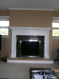How To Update Brick Fireplace by How To Reface A Brick Fireplace With Wood Fireplace Mantel