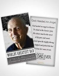 Funeral Card Template Prayer Card Template Greatest Dad Black And White