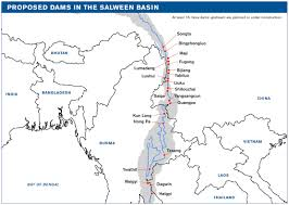 Physical Map Of South America Rivers by The Salween River Basin Fact Sheet International Rivers