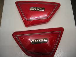 suzuki symbol suzuki gn 125 e 1994 2001 side panels panel cover covers new red