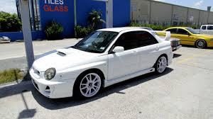sti subaru 2016 white 2002 subaru wrx custom rims 18 inch white advanti samurai custom