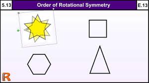 5 13 order of rotational symmetry basic maths gcse core skills