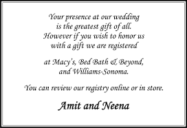 wedding wishes gift registry parekh cards