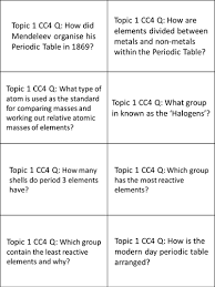 Atomic Structure And The Periodic Table Worksheet Answers by Edexcel 9 1 Cc3 And Cc4 Revision Cards For Atoms And The Periodic