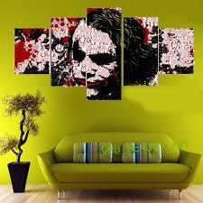 art painting for home decoration aliexpress com buy 5 panel batman comic joker art canvas
