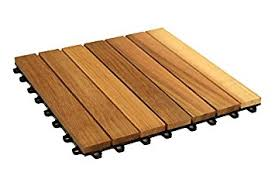 amazon com woodway interlocking deck tile cedar wood easy