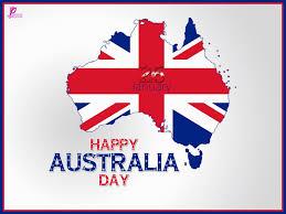 happy australia day waving australian flag picture