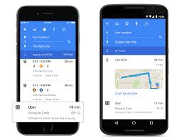 download google maps updated v9 material design with uber and