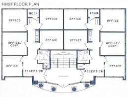 13 modern office building floor plan house plan w3280 v1 detail