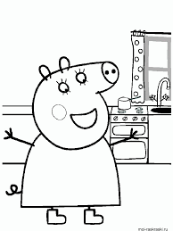 peppa pig coloring pages free printable peppa pig coloring pages