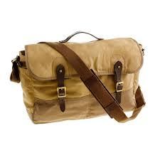 j crew abingdon messenger bag in natural for men lyst
