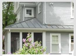 merry light gray exterior paint colors white house metal roof