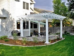 classic fiberglass pergola kit for low maintenance patio shade