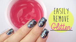 new u0026 easier way to remove glitter nail polish youtube