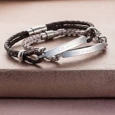 braided cord bracelet images Personalised men 39 s braided leather cord bracelet by posh totty jpg