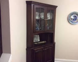 Corner Hutch Cabinet Corner Cabinet Etsy