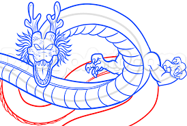 how to draw shenron from dragon ball z step by step dragon ball
