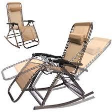 rocking recliner garden chair folding zero gravity reclining lounge chairs outdoor beach pool