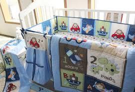Rocket Ship Crib Bedding Giol Me Num Blue Boys Crib 100 Cotton Bedding Embroidery Plane