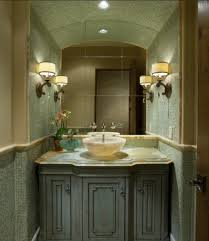 bathroom in green shades reinforce a theme or complement a time