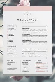 tips for your thin resume presentable millie resume cv template word photoshop indesign