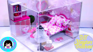 Hello Kitty Bedroom Set In A Box Diy Miniature Dollhouse Working Lights Music Box