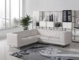 modern tufted leather sofa divani casa windsor modern tufted leather sectional sofa