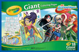 crayola giant coloring pages dc superhero girls toys