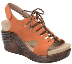 bionica lace up leather wedge sandals sirus page 1 u2014 qvc com