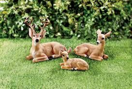 fingerhut alcove deer family lawn ornaments